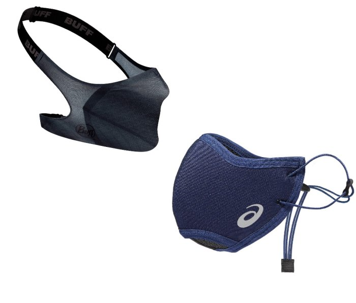 Buff Filter Mask and Asics Unisex Runners Face Cover