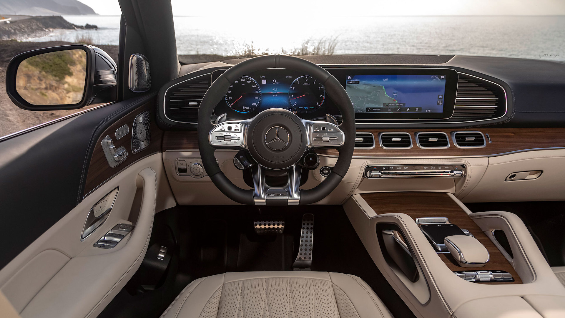 2021 Mercedes AMG GLS Luxury SUV interior