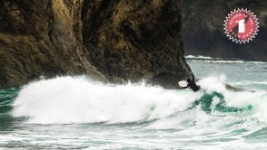 Brian Forcum surfing at La Push in the Olympic Peninsula