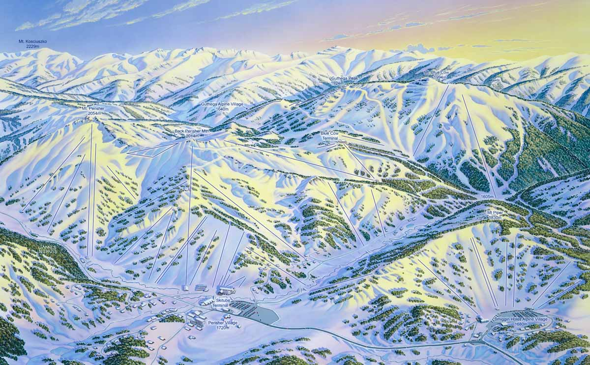 Australia ski resort map courtesy Perisher James Niehues