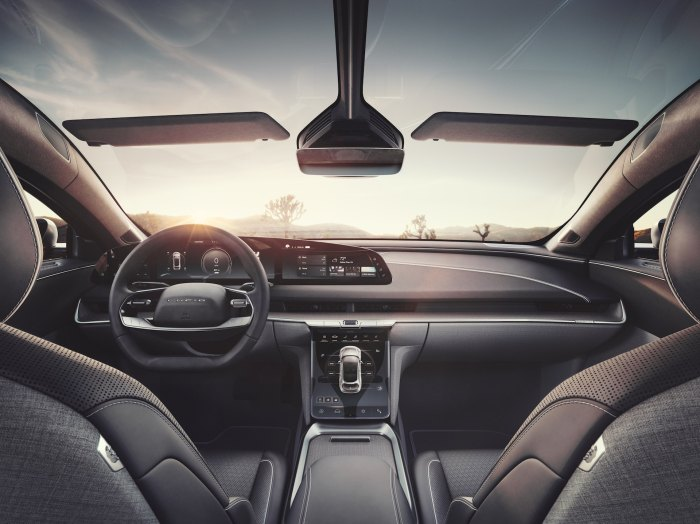 LUCID Air interior