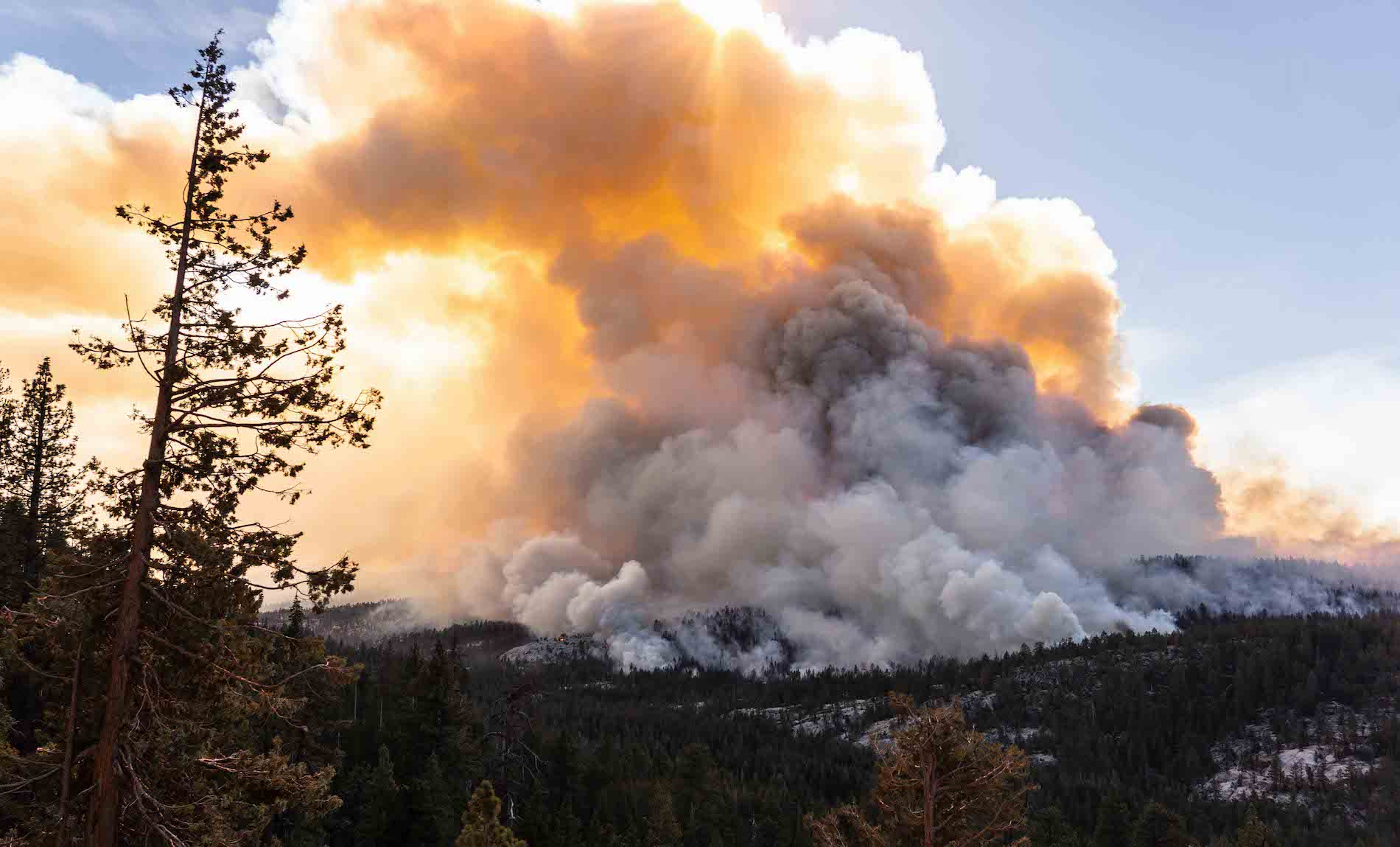 Plumes of smoke from wildfires have caused hazardous smoke conditions in the Yosemite valley.