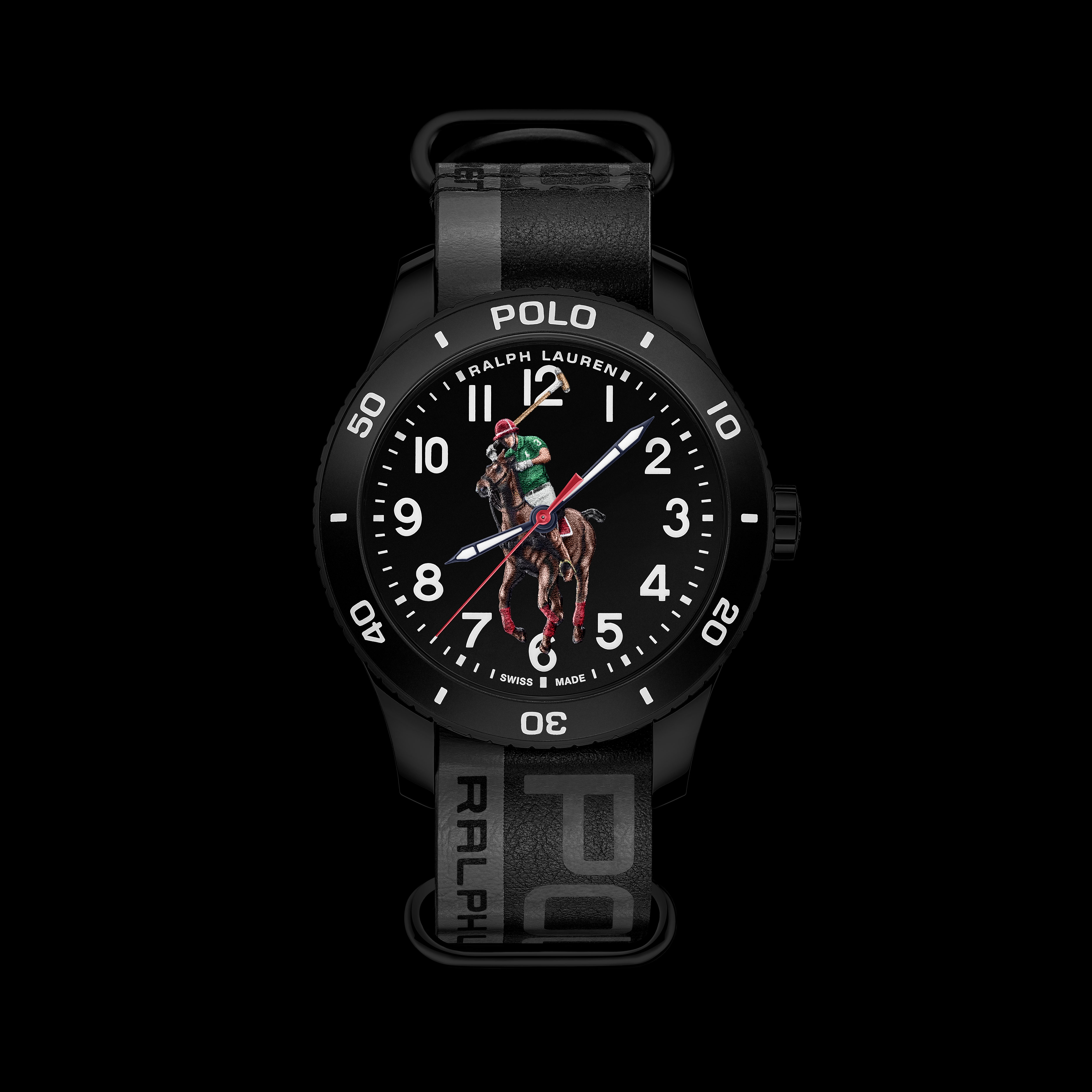 Polo Watch - Black on Black Nato