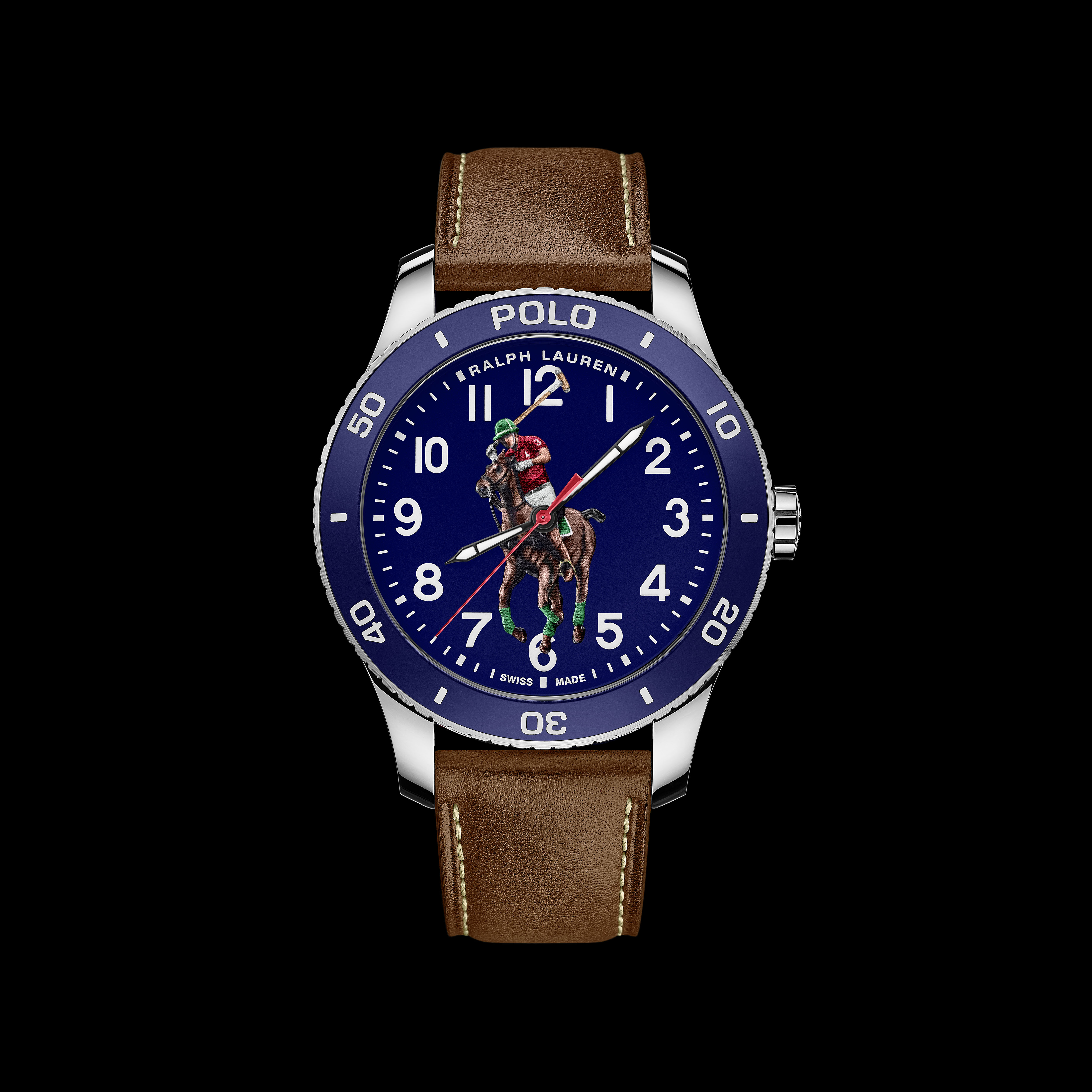 Polo Watch - Blue on calf