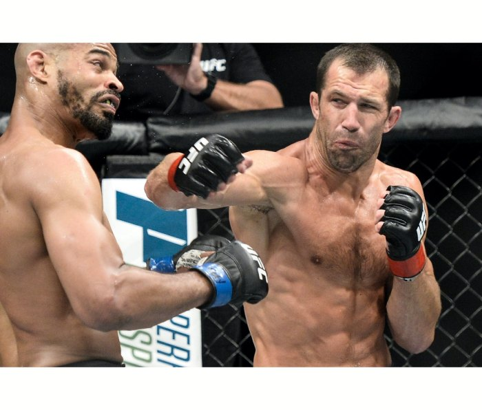 UFC fighter Luke Rockhold throwing a punch