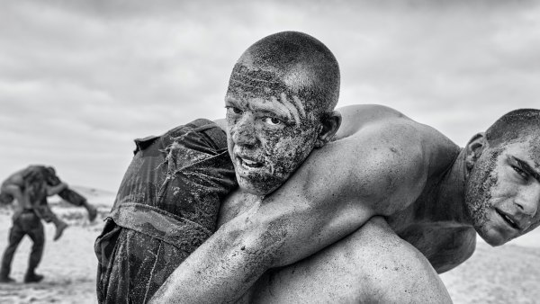 Navy SEALS in training, as seen in book 'Uncommon Grit'