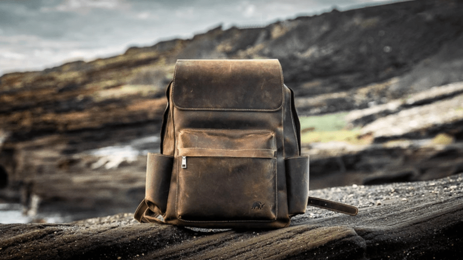 Leather Rugged Backpack