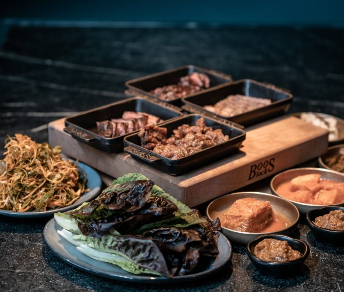 Korean BBQ at Cote restaurant in New York City