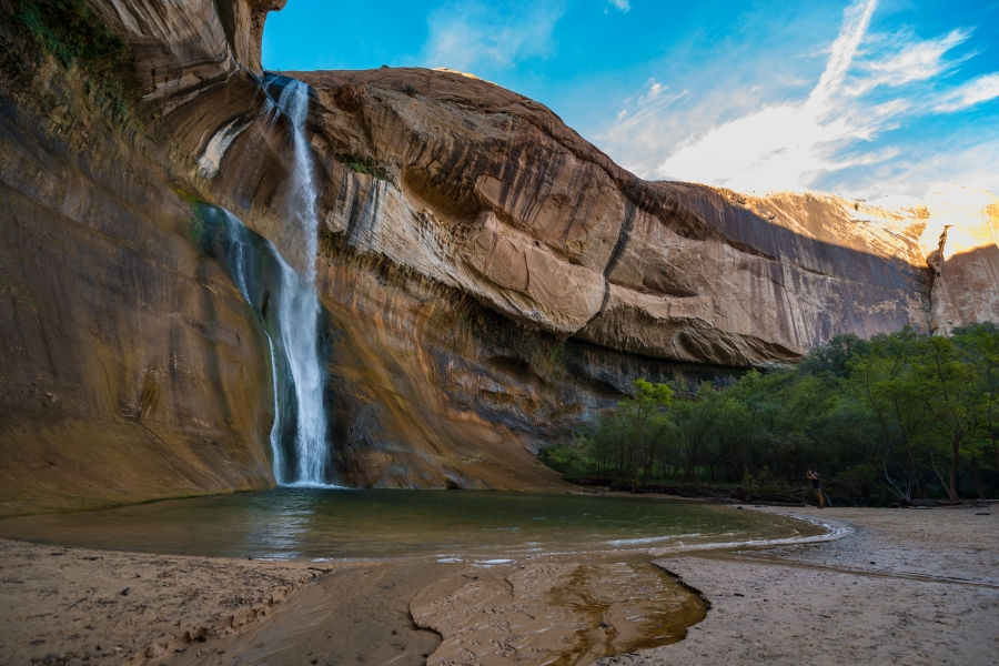 Lower Calf Creek Falls in Grand Staircase-Escalante National Monument.
