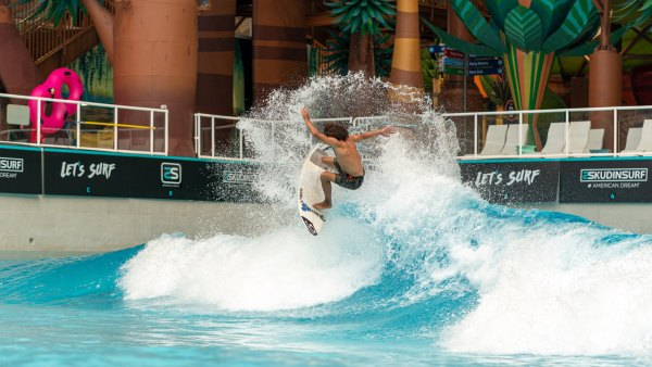 Indoor mall surfing has arrived in New Jersey.