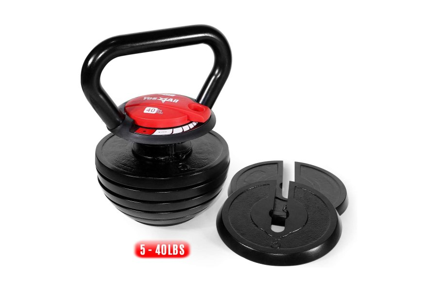 Yes4All Cast Iron Kettlebell Weight Sets