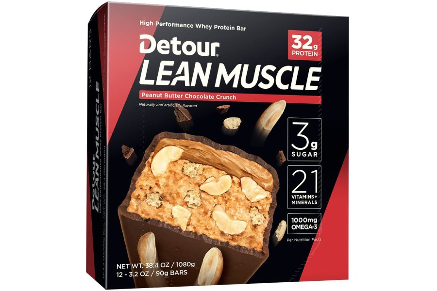 Detour Lean Muscle Whey Protein Bar Pack of 12