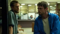 Charlie Hunnam and Jack O'Connell as Stanley and Lion Kaminski, bare-knuckle boxers in the drama 'Jungleland'