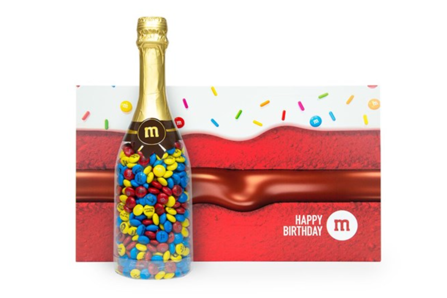 Personalizable M&M'S Occasion Bottle In Birthday Gift Box