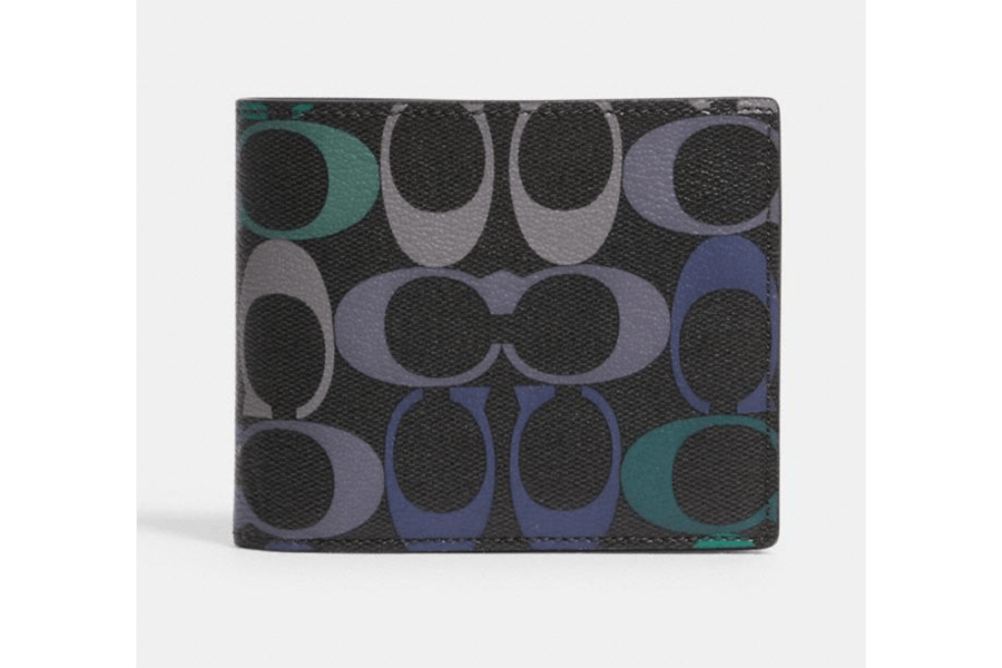 3-In-1 Wallet In Rainbow Signature Canvas
