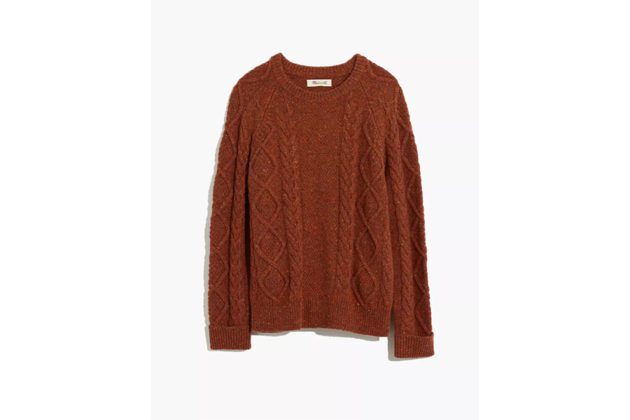 Donegal Cableknit Fisherman Sweater