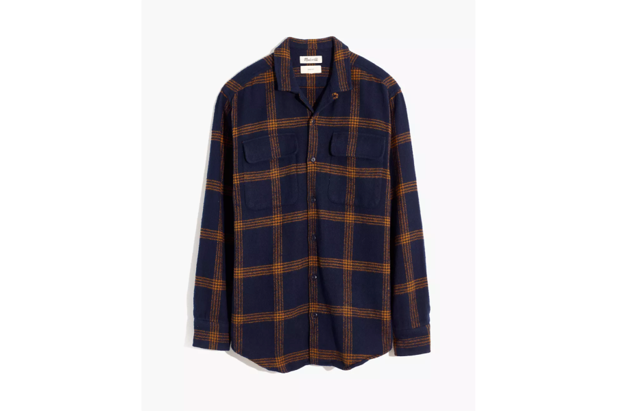 Flannel Easy Long-Sleeve Camp Shirt