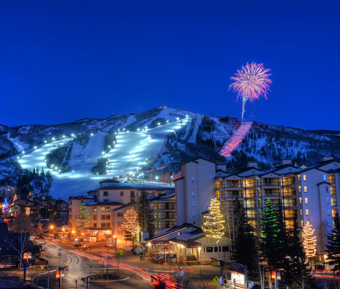 Fireworks at Steamboat Ski Resort in Colorado