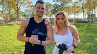 Evan Betts and Jill Barger team up to do a partner workout