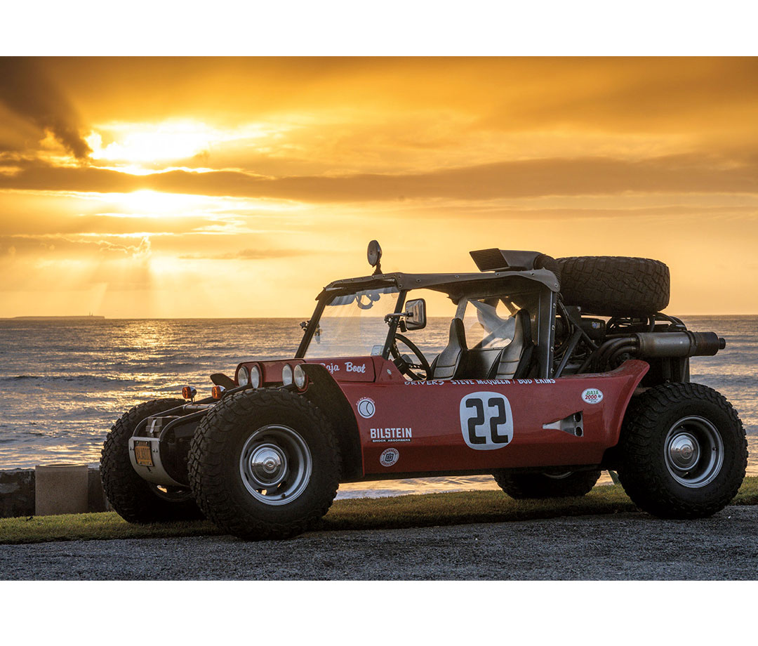 The original Vic Hickey Baja Boot (1967), raced by McQueen. Glickenhaus bought it at auction in 2010.