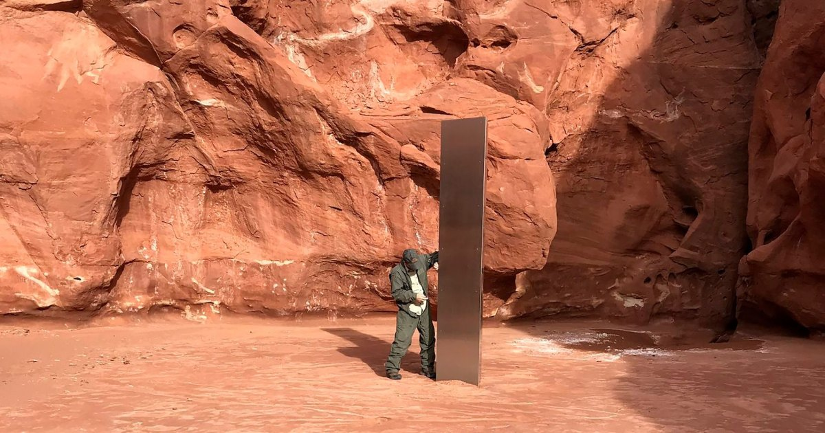 Mysterious Metallic Monolith Discovered in Remote Utah Canyon