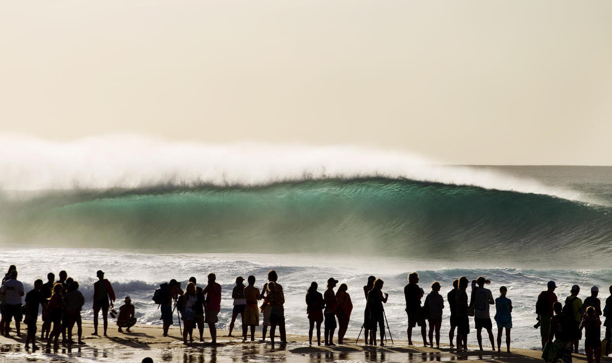 The Pipe Masters normally draws a huge crowd from around the world.