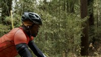 Triathlete Max Fennell training to beat time trial on Old La Honda climb in California