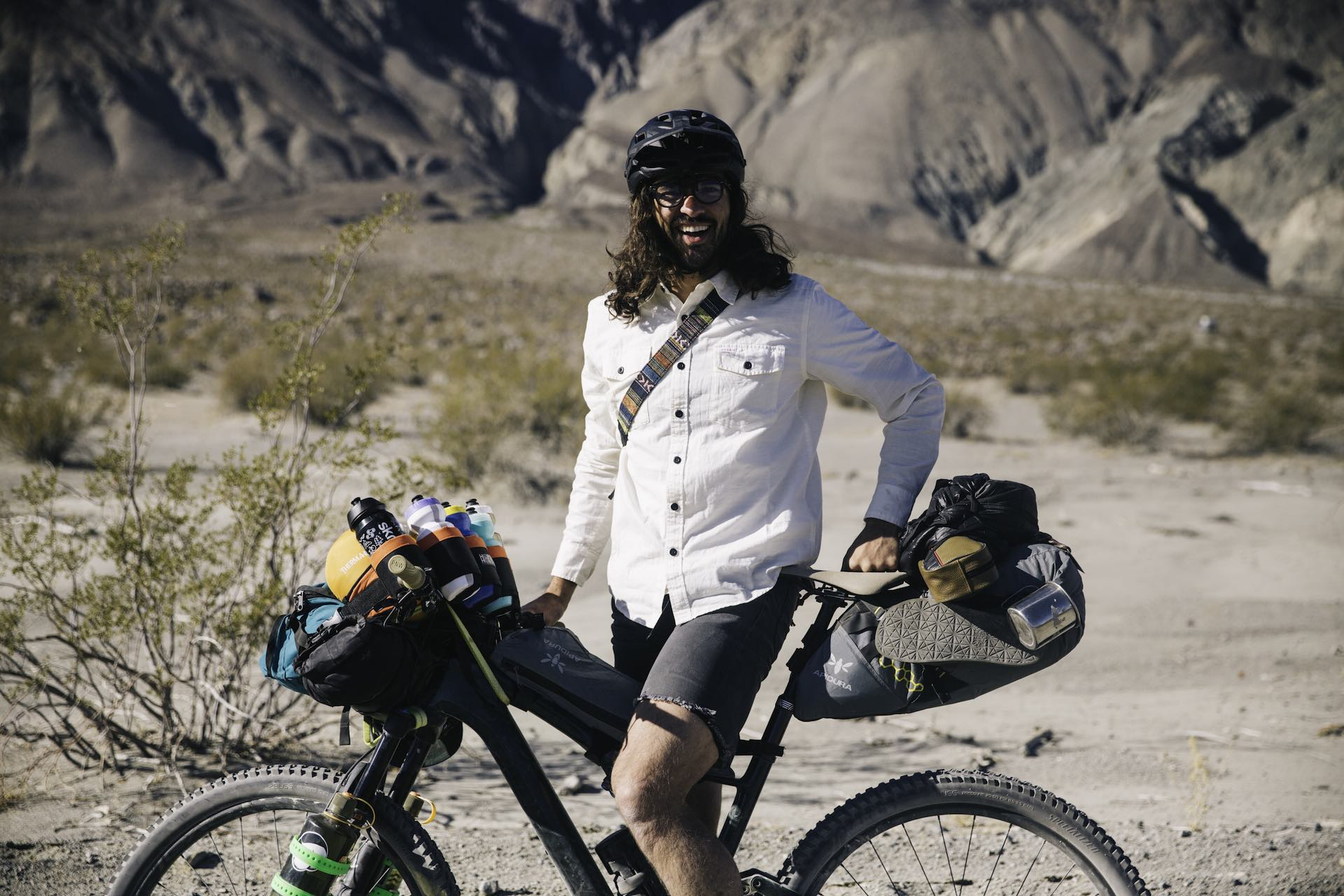 e mountain bike expedition across death valley