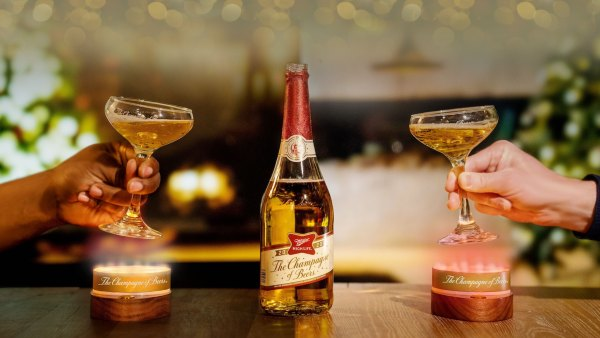 Miller High Life champagne glasses