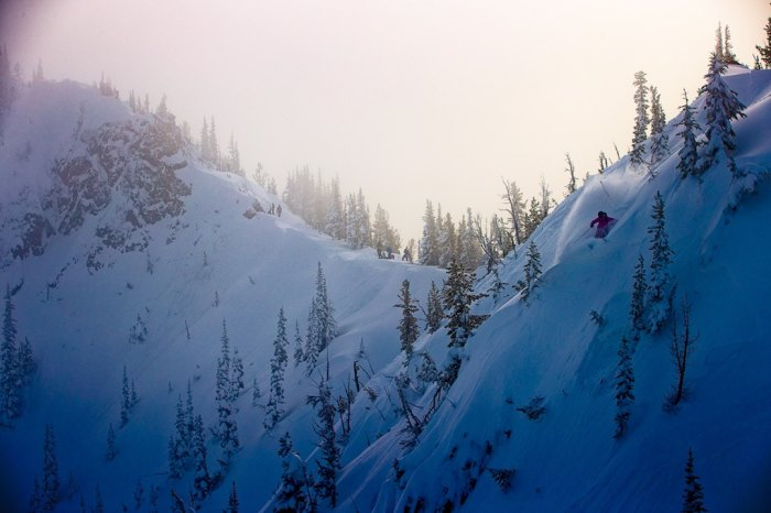 Ingrid Backstrom skiing at Crystal Mountain.