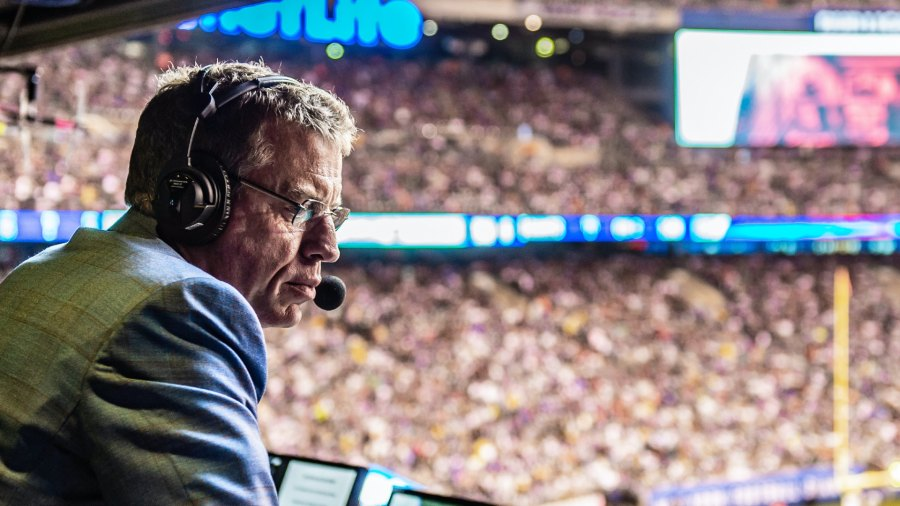 Troy Aikman announcing football game