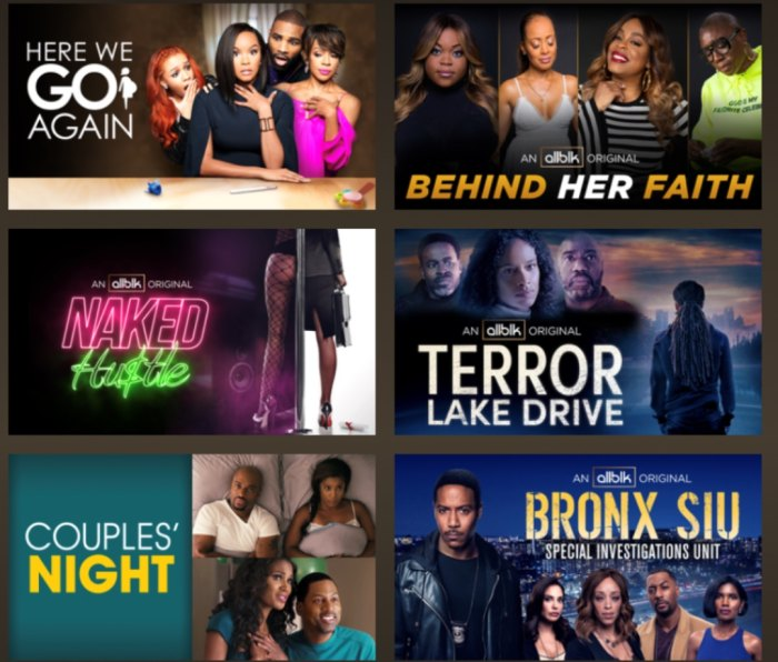 ALLBlk streaming service dedicated to Black TV shows and films
