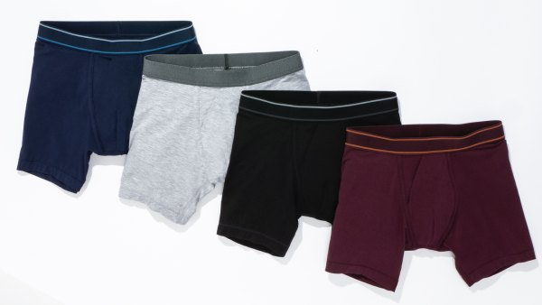 Bombas boxer brief in black, navy, heather grey, and midnight plum