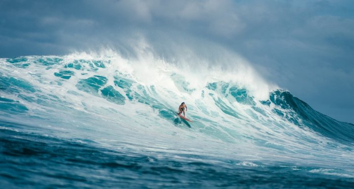 Local Hawaiian surfer Cliff Kapono participated in this year's Triple Crown.