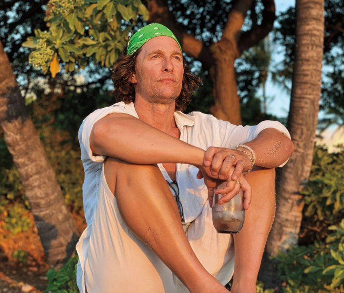 Matthew McConaughey relaxing at home