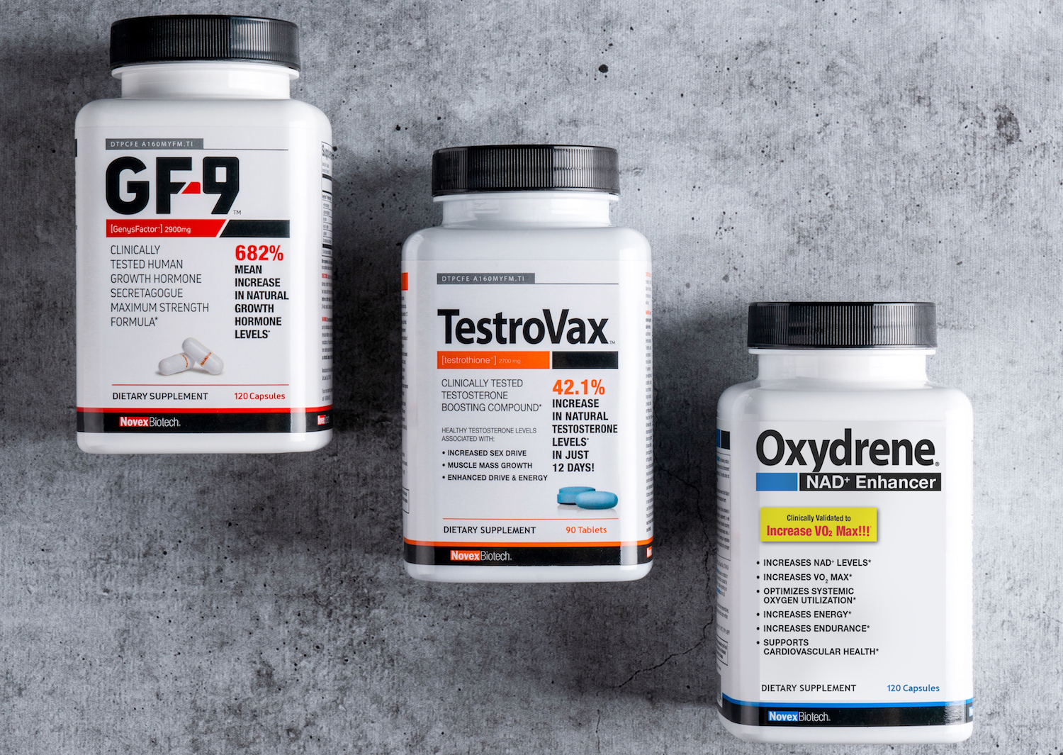 The Novex Biotech line of supplements is formulated to give for guys 45+ a boost.