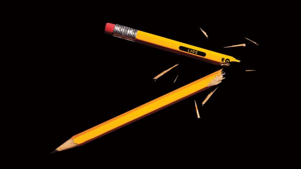 Snapped pencil