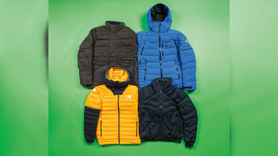 Best down puffy jackets include Filson, Spyder, The North Face, and Mammut