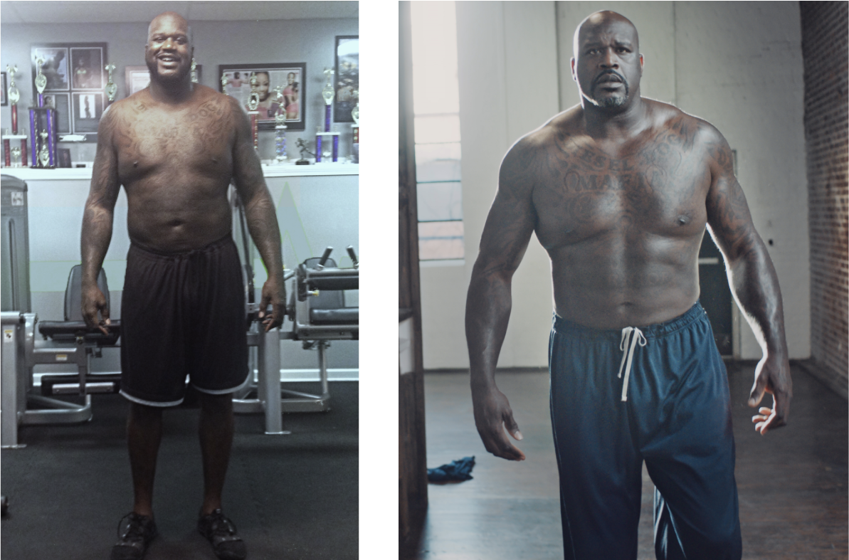 Shaq's before and after pictures show off his impressive transformation.