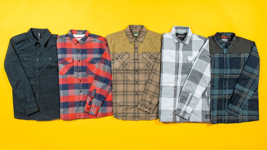 From left: Mountain Hardwear, California Cowboy, Howler Brothers, Helly Hansen, and Simms
