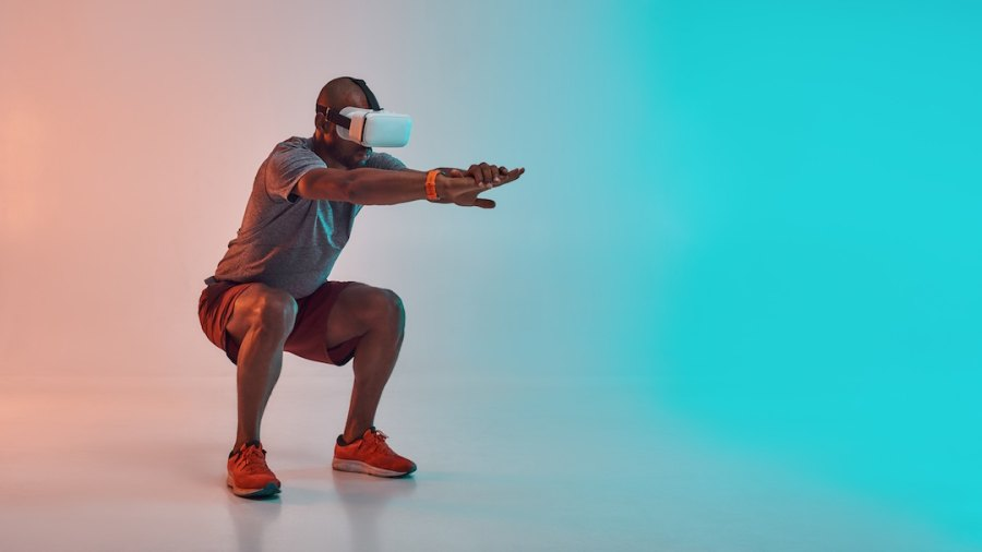 VR fitness goggles workout