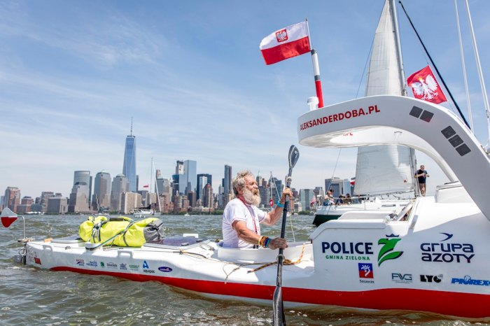 Aleksander 'Olek' Doba launches out of Manhattan