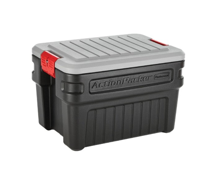 rubbermaid action packer gear storage