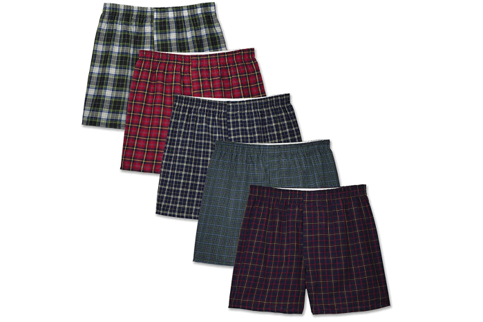 Fruit of the Loom Woven Tartan and Plaid Boxer Multipack