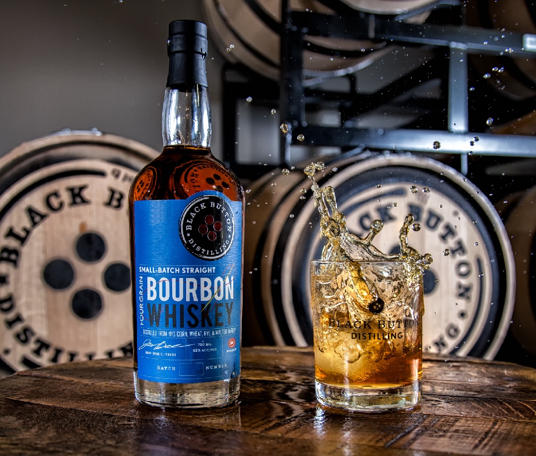 Black Button Distilling Four Grain Straight Bourbon Whiskey