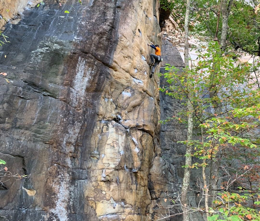 Climbing in New River Gorge National Park