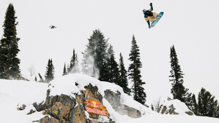 Travis Rice during Day 2 finals of the Feb. 2021 Natural Selection Tour