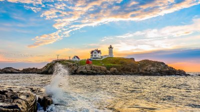 Nubble Lighthouse in York, Maine