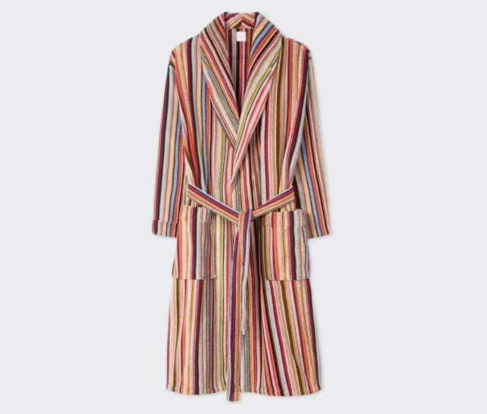 Paul Smith Signature Striped Toweling Robe