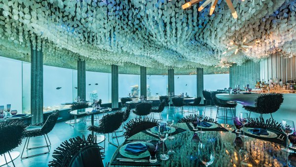 Subsix, the luxurious underwater club in the Maldives.